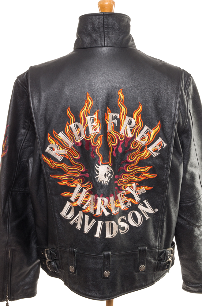 e56a276a19018 Leather jacket Harley Davidson XL - Vintage Store