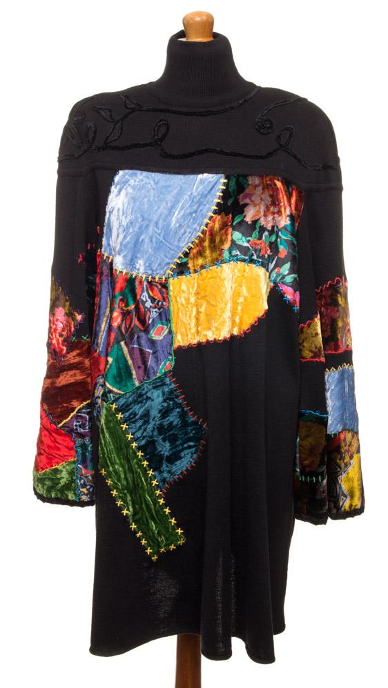 vintagstore.eu_christian_lacroix_dress_wool_patchwork_IGP0393