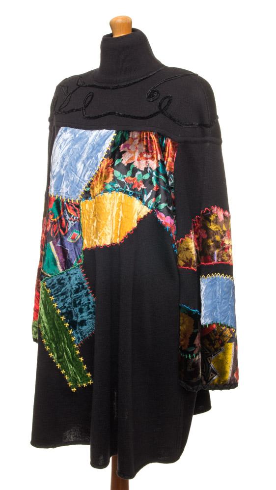 vintagstore.eu_christian_lacroix_dress_wool_patchwork_IGP0394